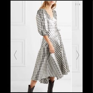 Ganni plaid midi dress, Tags still on, size 34